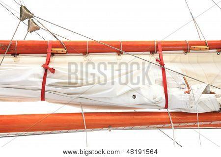 Ship Rigging On Old Boat