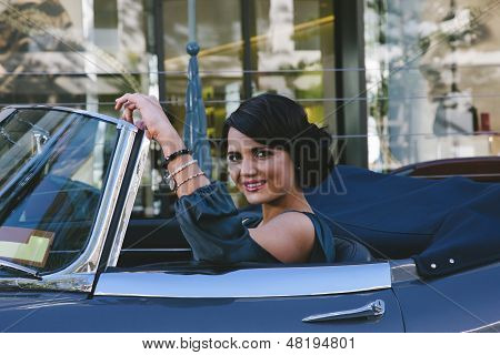 Happy Woman Driving