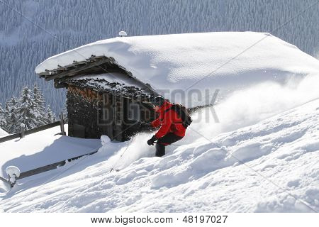 Skiing Backcountry Blockhouse