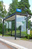 foto of bus-shelter  - Urban bus stop shelter space for your advertisement - JPG