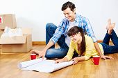 picture of family planning  - new home floor plans couple moving in - JPG