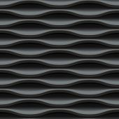 stock photo of wavy  - Dark black seamless texture - JPG