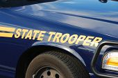 stock photo of trooper  - State Trooper Cruiser at a Fire and emergency services week in Roseburg Oregon - JPG