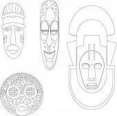 stock photo of african mask  - African Cultural Masks - JPG
