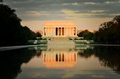stock photo of abraham lincoln memorial  - Abraham Lincoln Memorial  - JPG