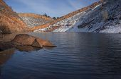 stock photo of horsetooth reservoir  - mountain lake in Colorado  - JPG