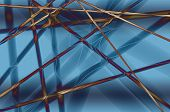 Abstract-straight Lines On A Blue Background