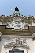 foto of stanislaus church  - viwe on top of church on skalka in cracow in poland - JPG