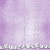pic of san valentine  - Festive invitation or congratulations for a wedding christening with white beautiful pearls - JPG