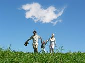 Family Sunny Day And Cloud poster