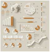 stock photo of line graph  - Vector infographic elements - JPG
