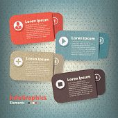 Four Colored Paper Cards With Place For Your Text