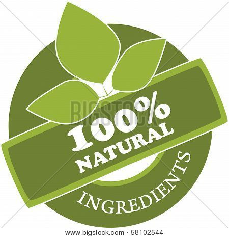 Natural Ingredients label