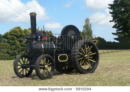 Restored Steam Traction Engine