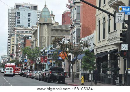 Gaslamp Quarter, in San Diego, California