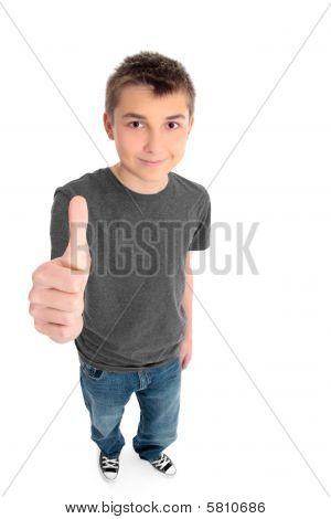 Boy Thumbs Up Sign