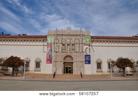San Diego Museum of Art in Balboa Park in San Diego, California