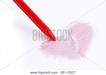 Red Pencil And A Red Heart