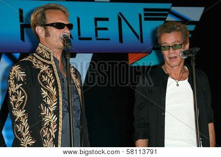 David Lee Roth and Eddie Van Halen at the Van Halen Reunion Tour Press Conference. Four Seasons Hotel, Los Angeles, CA. 08-13-07