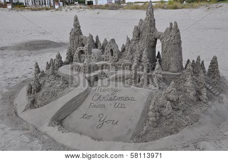 Sandcastle at Hotel del Coronado in California