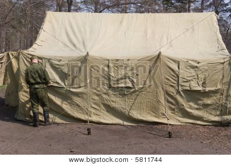 Soldier And Tent