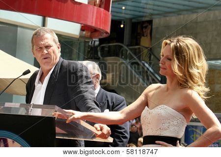 Jeff Bridges and Michelle Pfeiffer at the ceremony honoring Michelle Pfeiffer with the 2,345th star on the Hollywood Walk of Fame. Hollywood Boulevard, Hollywood, CA. 08-06-07