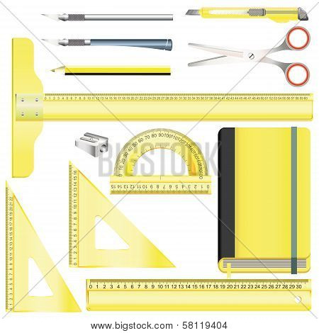 Set Of Equipment For Drafting And Drawing