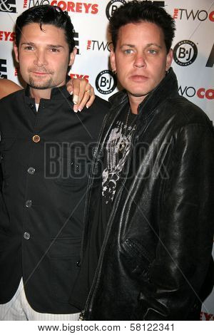 Corey Feldman and Corey Haim at the A and E Premiere of