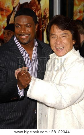 Chris Tucker and Jackie Chan at the Los Angeles Premiere of