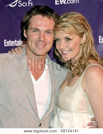 Michael Shanks and Amanda Tapping at the EW Magazine and Sci-Fi Channel Comic-Con Party. Solamar Hotel, San Diego, CA. 09-28-07