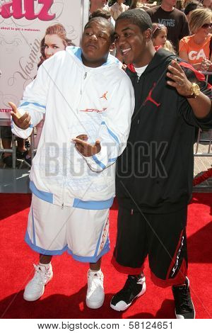 Kyle Massey and Christopher Massey at the Los Angeles premiere of