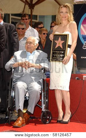 Johnny Grant and Michelle Pfeiffer at the ceremony honoring Michelle Pfeiffer with the 2,345th star on the Hollywood Walk of Fame. Hollywood Boulevard, Hollywood, CA. 08-06-07