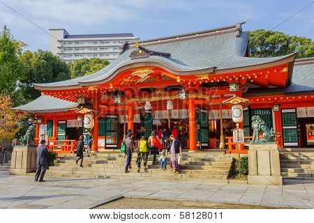 Ikuta-jinja Shrine in Kobe