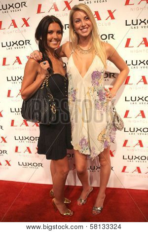 Audrina Patridge and Whitney Port at the pre-VMA party hosted by Christina Aguilera. LAX Night Club, Las Vegas, NV. 09-08-07