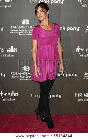 Minka Kelly at the 3rd Annual Pink Party benefiting Cedars-Sinai Women's Cancer Research Institute. Viceroy Hotel, Santa Monica, CA. 09-08-07