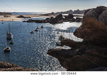 Bear In The Rock. Tregastel, France, Granite Coast
