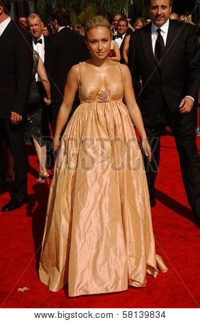 Hayden Panettiere arriving at the 59th Annual Primetime Emmy Awards. The Shrine Auditorium, Los Angeles, CA. 09-16-07