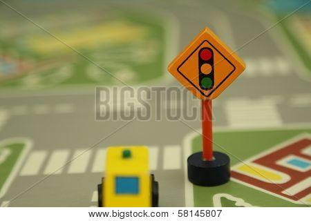 Wooden Mini Traffic Lights