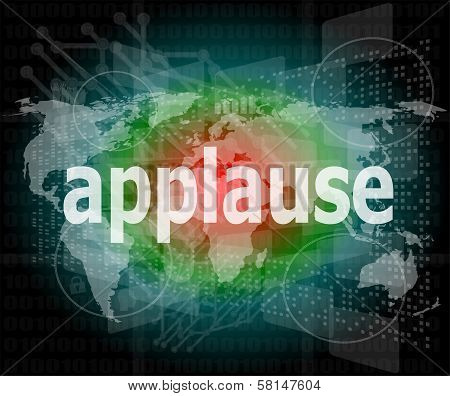 Applause Word Poster Business Concept. Financial Support Message Design