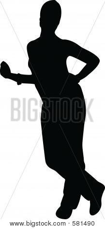 Silhouette Girl Model