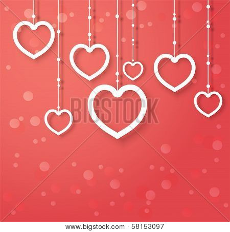 Vector Hearts, Abstract Design For Valentines Day.