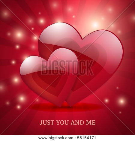 Valentine's Day Magic Love Poster Card Design