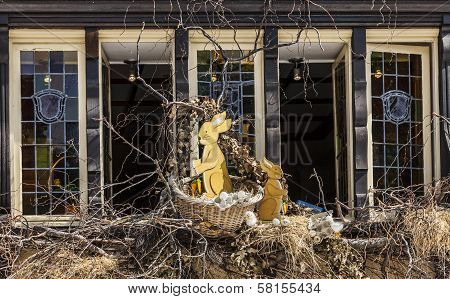 Easter Decorated Window In Colmar