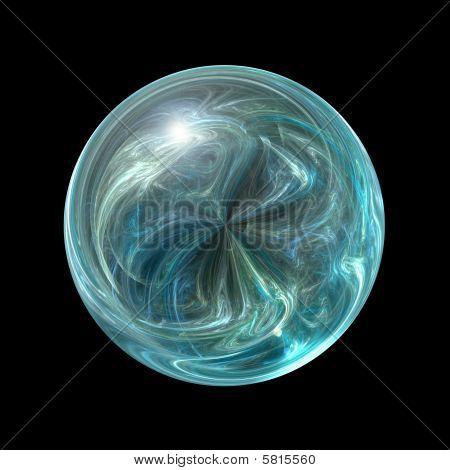 Teal Marble Orb