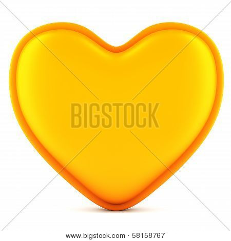 Orange Abstract Heart