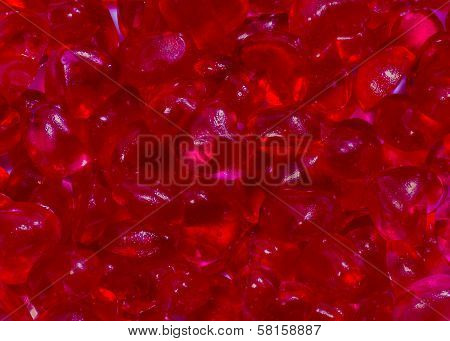 Colorful Of Many Red Heart Jelly Bean