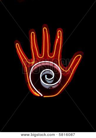 Neon Sign For Palm Reading