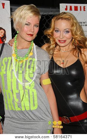 Lorielle New and friend at the Los Angeles Party for