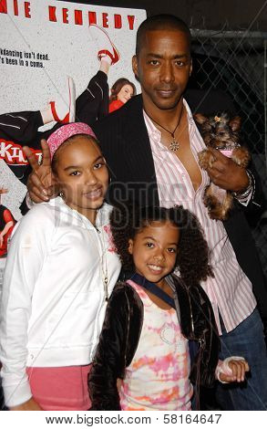 Miguel A. Nunez Jr and family at the Los Angeles Party for