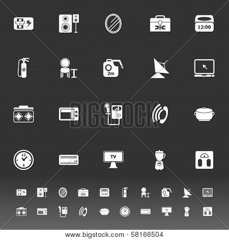 House Related Icons On Gray Background
